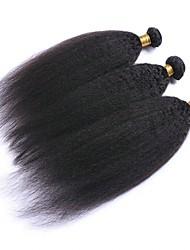 Недорогие -3 Связки Бразильские волосы Евро-Азиатские волосы Вытянутые 8A Натуральные волосы Необработанные натуральные волосы Подарки Человека ткет Волосы Аксессуары для костюмов 8-28 дюймовый Естественный цвет