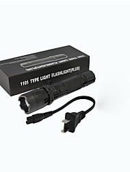 Недорогие -ZQ-X947 Светодиодные фонари LED излучатели 1501   1501 lm Руководство Режим освещения Простота транспортировки, Легкость Черный