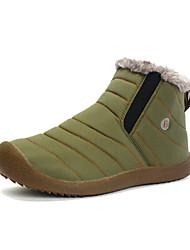 Недорогие -Муж. Комфортная обувь Синтетика Зима Классика / На каждый день Ботинки Сохраняет тепло Черный / Темно-синий / Хаки