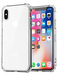 billiga -fodral Till Apple iPhone XR / iPhone XS Max Stötsäker / Genomskinlig Skal Enfärgad Mjukt TPU för iPhone XS / iPhone XR / iPhone XS Max