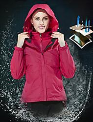baratos -Mulheres Jaqueta de Esqui Prova-de-Água, Térmico / Quente, Respirabilidade Esqui / Snowboard / Esportes de Inverno POLY, Flanela Inverno Jaquetas em Velocino / Lã Roupa de Esqui