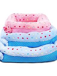 お買い得  -犬用 / 猫用 ベッド ペット用 マット / パッド 水玉 / 波点 携帯用 / ウォーム / スリッパ ブルー ペット用