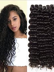 Недорогие -4 Связки Перуанские волосы Глубокий курчавый 100% Remy Hair Weave Bundles Человека ткет Волосы Удлинитель Пучок волос 8-28 дюймовый Естественный цвет Ткет человеческих волос / Без запаха