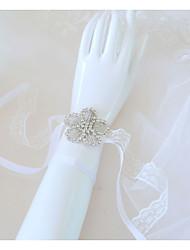 Недорогие -Свадебные цветы Букетик на запястье Свадьба / Свадебные прием стекло / Кружево 0-10 cm