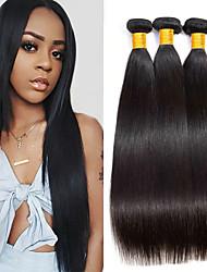 저렴한 -3 개 묶음 직진 8A 인모 미처리 인모 인간의 머리 직조 익스텐션 번들 헤어 8-28 인치 자연 색상 인간의 머리 되죠 부드러움 최고의 품질 두꺼운 인간의 머리카락 확장 여성용