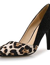 baratos -Mulheres Stiletto Pêlo Sintético / Sintéticos Outono & inverno Saltos Salto Agulha Dedo Apontado Leopardo