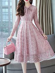 billige -kvinder går ud swing kjole midi v hals
