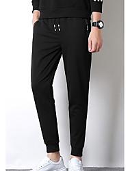 Недорогие -брюки мужские хлопок тонкие штаны штаны - сплошной цвет