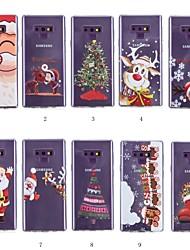 Недорогие -Кейс для Назначение SSamsung Galaxy Note 9 / Note 8 С узором Кейс на заднюю панель Рождество Мягкий ТПУ для Note 9 / Note 8