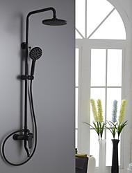 Недорогие -Смеситель для душа - Традиционный Окрашенные отделки Душевая система Керамический клапан Bath Shower Mixer Taps / Латунь / Одной ручкой три отверстия