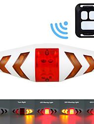 Недорогие -Задняя подсветка на велосипед Светодиодная лампа Велосипедные фары Велоспорт Водонепроницаемый, Пульт управления AAA 100 lm Красный / Желтый Велосипедный спорт