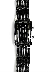 Недорогие -Муж. электронные часы Японский Кварцевый 30 m Защита от влаги сплав Группа Цифровой Роскошь Черный / Серебристый металл - Черный Серебряный Два года Срок службы батареи / Нержавеющая сталь
