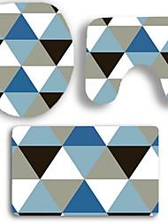 Недорогие -3 предмета Modern Коврики для ванны 100 г / м2 полиэфирный стреч-трикотаж Креатив / Геометрический принт Прямоугольная Ванная комната Новый дизайн