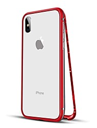 Недорогие -Кейс для Назначение Apple iPhone XS / iPhone XR / iPhone XS Max Защита от удара / Магнитный Чехол Однотонный Твердый Металл