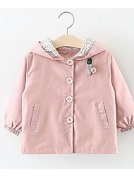 Недорогие -малыш Девочки Однотонный Длинный рукав Куртка / пальто