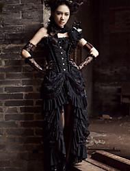 رخيصةأون -فستان نسائي ثوب ضيق أنيق طويل للأرض لون سادة
