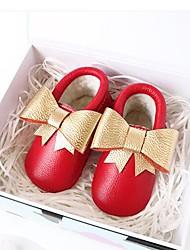 Недорогие -Мальчики / Девочки Обувь Кожа Наступила зима Обувь для малышей Ботинки На липучках для Дети Золотой / Красный