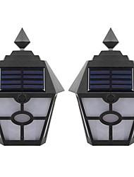 Недорогие -brongong солнечный свет контроль индукционный пламенный настенный светильник 2 шт.