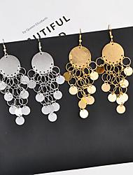 ราคาถูก -สำหรับผู้หญิง คลาสสิค Drop Earrings - แฟชั่น เครื่องประดับ สีทอง / สีเงิน สำหรับ ทุกวัน เป็นทางการ 1 คู่