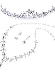 Недорогие -Жен. Свадебные комплекты ювелирных изделий Классический Мода Элегантный стиль Серьги Бижутерия Белый Назначение Свадьба Для вечеринок 1 комплект