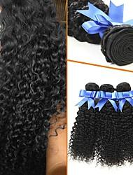 ieftine -4 pachete Buclat Kinky Curly 8A Păr Natural Neprocesat Accesoriu de Păr Umane tesaturi de par Atribut Îngrijire Păr 8-28 inch Negru Culoare naturală Umane Țesăturile de par Mătăsos Cea mai buna