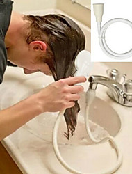 abordables -1pc robinet tête de douche spray draine le tamis tuyau évier lavage des cheveux douche