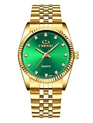 Недорогие -Муж. Нарядные часы Кварцевый Нержавеющая сталь Золотистый Защита от влаги Фосфоресцирующий Аналоговый Классика Мода минималист - Белый Черный Зеленый