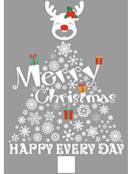 Недорогие -Декоративные наклейки на стены - Праздник стены стикеры Рождество / Цветочные мотивы / ботанический Столовая / В помещении