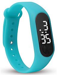 Недорогие -Для пары Наручные часы Цифровой силиконовый Черный / Белый / Синий Календарь Секундомер Фосфоресцирующий Цифровой Кольцеобразный Цветной - Синий Розовый Светло-Зеленый Один год Срок службы батареи