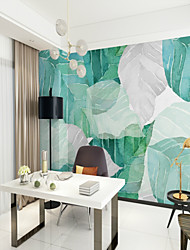 baratos -papel de parede / Mural Tela de pintura Revestimento de paredes - adesivo necessário Árvores / Folhas / Art Deco / 3D