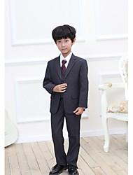 Недорогие -Черный / Серый Смесь хлопка и полиэстера Детский праздничный костюм - 1 комплект Включает в себя Жилетка