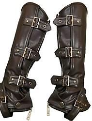 Недорогие -Косплей Steampunk Костюм Жен. Ботинки Черный Винтаж Косплей Кожа