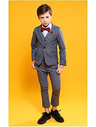 Недорогие -Серый Полиэфир Детский праздничный костюм - 1 комплект Включает в себя Жилетка