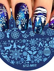ieftine -8 pcs Multi Function / Durabil Teak Decals Pentru Crăciun Creative nail art pedichiura si manichiura Zilnic La modă / Modă