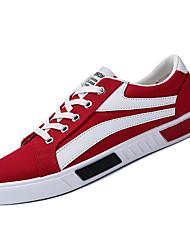 abordables -Homme Chaussures de confort Toile de jean Automne Décontracté Basket Augmenter la hauteur Bloc de Couleur Blanc / Noir / Rouge