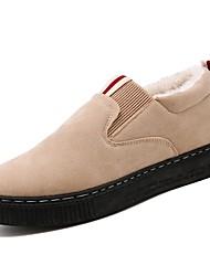 Недорогие -Муж. Комфортная обувь Искусственная кожа / Искусственный мех Наступила зима На каждый день Мокасины и Свитер Сохраняет тепло Черный / Серый / Хаки