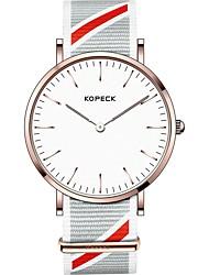 Недорогие -Kopeck Муж. Наручные часы электронные часы Японский Японский кварц Нейлон Черный / Серый / Небесно-голубой 30 m Защита от влаги Повседневные часы Аналоговый На каждый день минималист -