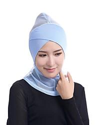 Недорогие -Жен. Винтаж / Классический Хиджаб - Сетка Однотонный