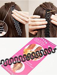 Недорогие -Аксессуары для волос / Инструмент для волос пластик Наборы аксессуаров Декорации Легко для того чтобы снести / Лучшее качество 5 pcs Повседневные Мода