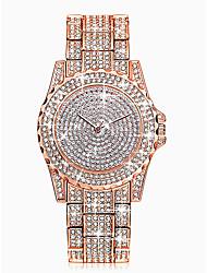 Недорогие -Жен. Наручные часы Diamond Watch золотые часы Кварцевый Серебристый металл / Золотистый / Розовое золото 30 m Защита от влаги Имитация Алмазный Аналоговый Дамы Роскошь Мода Bling Bling -