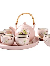 cheap -8 pieces Bowls & Water Bottles Chinaware Set Dinnerware Porcelain Ceramic Earthenware Cute Creative Heatproof