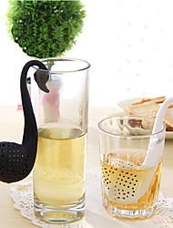 Недорогие -пластик Творческая кухня Гаджет Лебедь 1шт Ситечко для чая