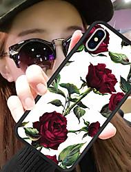 Недорогие -Кейс для Назначение Apple iPhone XR / iPhone XS Max С узором Кейс на заднюю панель Цветы Твердый Силикон / ПК для iPhone XS / iPhone XR / iPhone XS Max