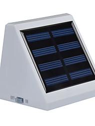 Недорогие -1pc наружная солнечная энергия 4 белый светодиод стены сад пейзаж забор свет лампа