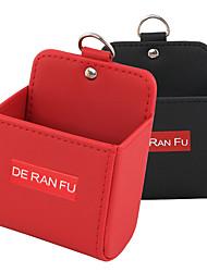 Недорогие -де ран фу выход воздуха автомобиля висит сумка ящик для хранения мобильного телефона автомобильная сумка мешок для мусора кожаный шкафчик