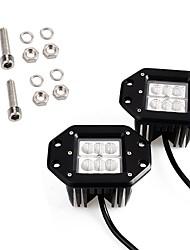 baratos -OTOLAMPARA 2pcs Carro Lâmpadas 30 W LED de Alto Rendimento 3000 lm 6 LED Luz de Trabalho Para Mazda / Honda Mazda5 / Mazda3 / Mazda6 2018 / 2016 / 2017