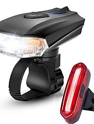 Недорогие -Светодиодная лампа Велосипедные фары Набор аккумуляторных ламп для велосипеда Передняя фара для велосипеда Задняя подсветка на велосипед Горные велосипеды Велоспорт / Интеллектуальная индукция