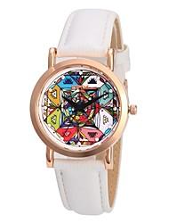 Недорогие -Жен. Нарядные часы Японский Японский кварц Стеганная ПУ кожа Белый 30 m Cool Аналоговый Дамы Винтаж Мода - Темно-синий Темно-синий / Красный Синий / красный / белый Два года Срок службы батареи