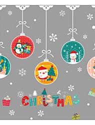 Недорогие -Декоративные наклейки на стены - Простые наклейки Животные / Рождество В помещении / Детская