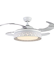 abordables -QINGMING® Ventilateur de plafond Lumière d'ambiance Finitions Peintes Métal LED 110-120V / 220-240V Bayadère